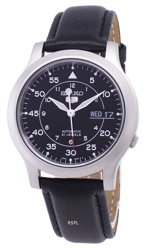 Seiko 5 Military SNK809K2-SS3 Automatic Black Leather