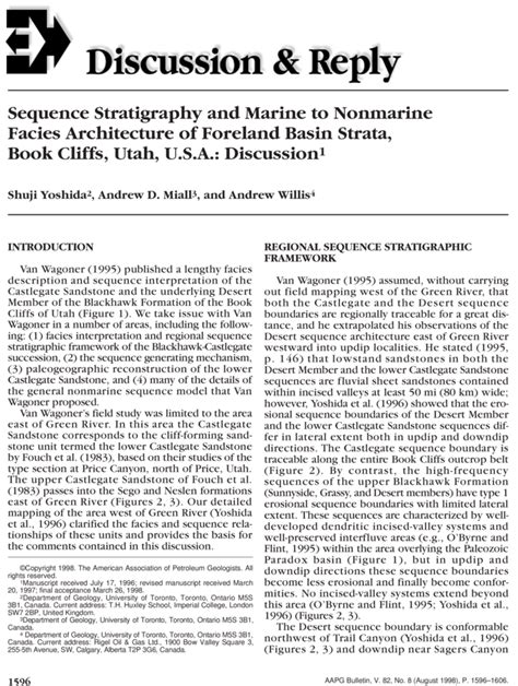 AAPG Datapages/Archives: Sequence Stratigraphy and Marine