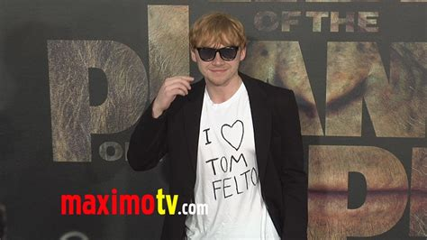 """Rupert Grint """"I Love TOM FELTON"""" at """"Rise of the Planet of"""
