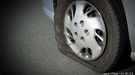 34 vehicles receive flat tires due to metal piece on Route