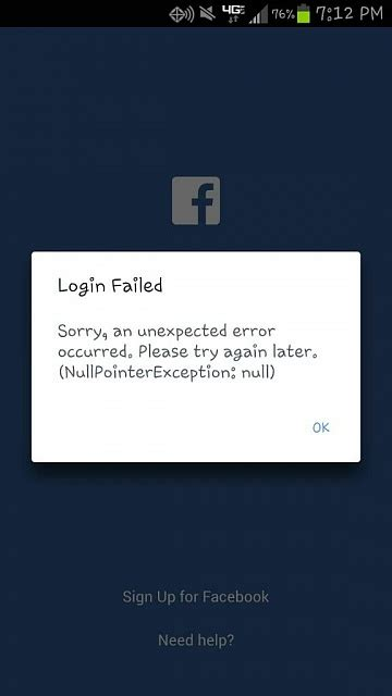 Facebook app won't log in? - Android Forums at