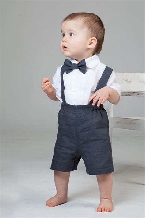 Baby boy linen suit Ring bearer outfit 1st birthday