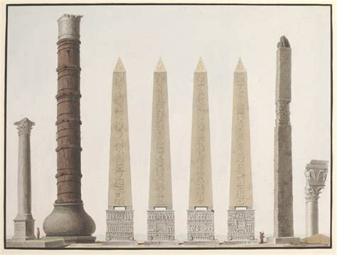 An illustration showing the ancient columns and the