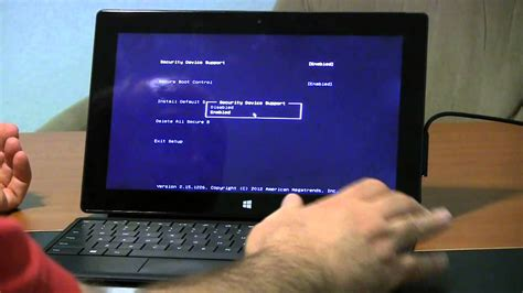 Surface Pro how to enter BIOS or UEFI - YouTube