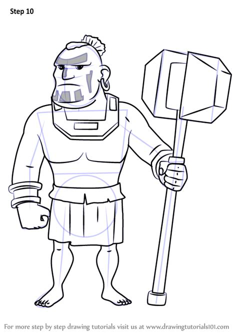 Learn How to Draw Warrior from Boom Beach (Boom Beach