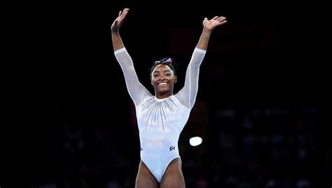 Simone Biles sets record for most medals by any gymnast at